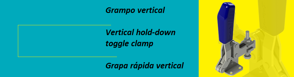 Vertical hold-down toggle clamp