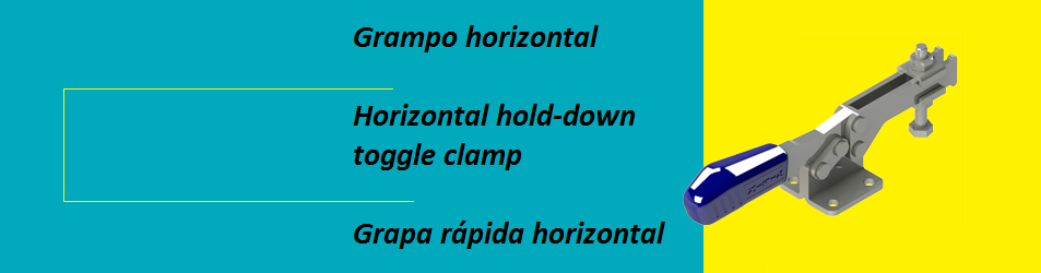 Horizontal hold-down toggle clamp